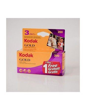 Kodak Gold 200/36 x 3  negatyw kolorowy typ 135