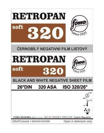 "Foma film Retropan 320 w arkuszach 4x5""/25 szt."