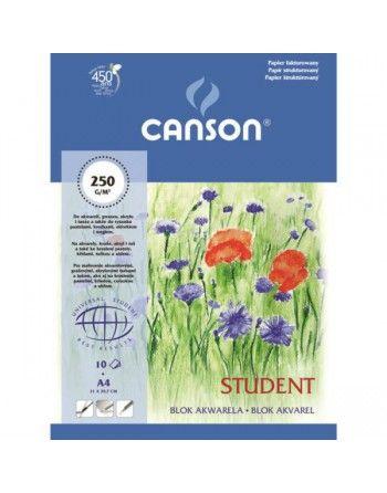 Canson Student blok akwarelowy A4 10 arkuszy gramatura 250g/m2