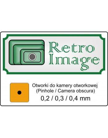 Retro-image otwrki do pinhole zeastaw trzech otworków 0,2, 0,3 0,4 mm