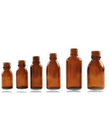 Butelki apteczne 5 x 50 ml szkło brązowe